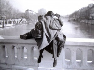Paris lovers and the Seine
